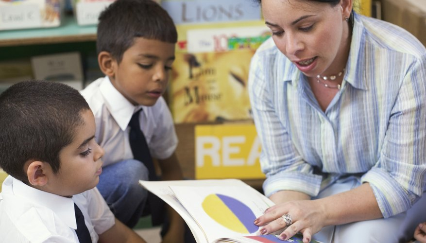 Kindergarten teachers introduce their students to many new reading skills.