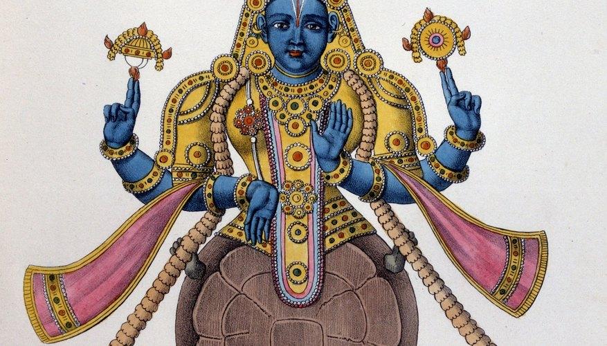 Hindus believe in one God from whom many deities, like Vishnu, emanate.