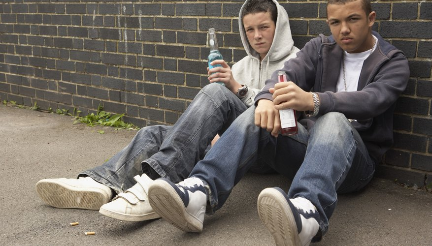 Guys are more likely to start drinking or smoking if their friends do.