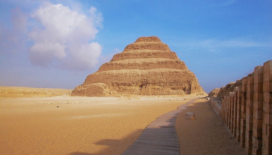 Djoser is the first king to be buried in a step pyramid.