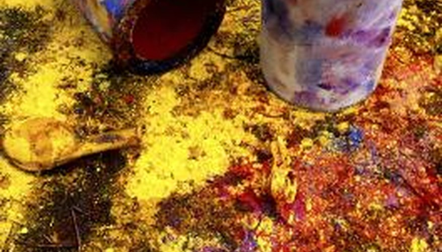 Painting can result in some nasty spills and stains.