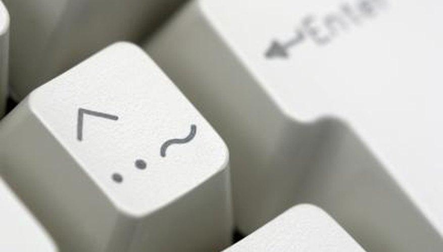 An umlaut on an international keyboard.