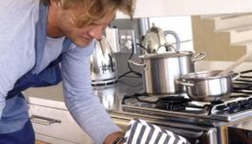 Baking food in an oven is one method of cooking a variety of items.