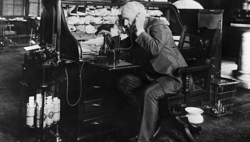 An early photo of Thomas Edison.