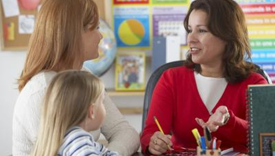 Show examples of work to parents who don't speak English.