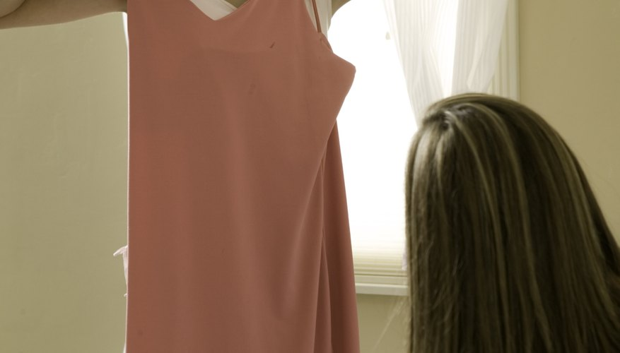 You don't need a washer, dryer or iron to de-wrinkle a dress.