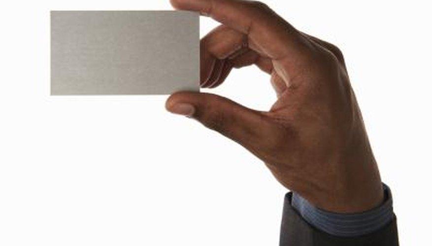 Business card etiquette is precise.