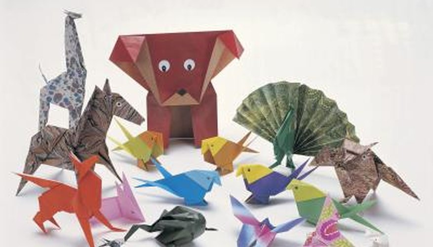 Origami shapes paper into three-dimensional images from the natural world.
