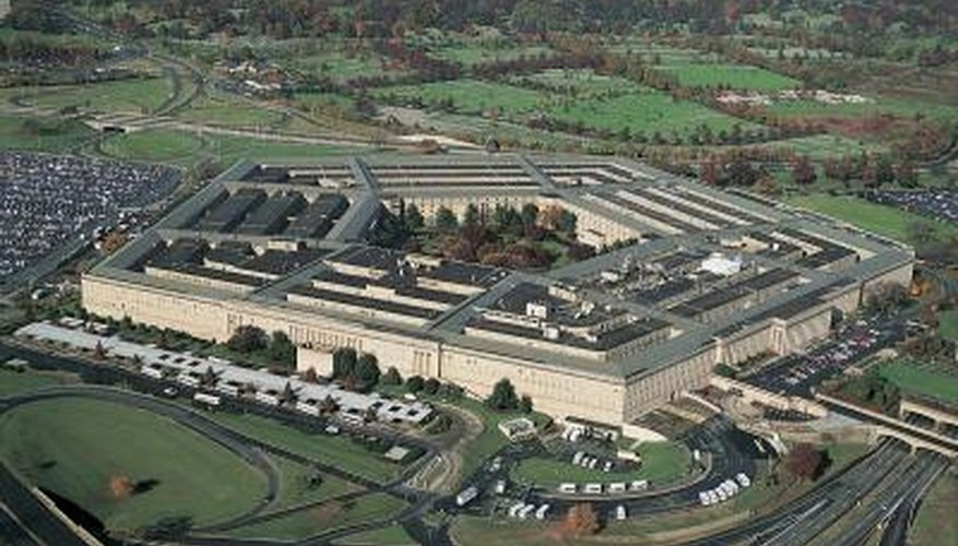 The Pentagon building is in the shape of a regular pentagon.