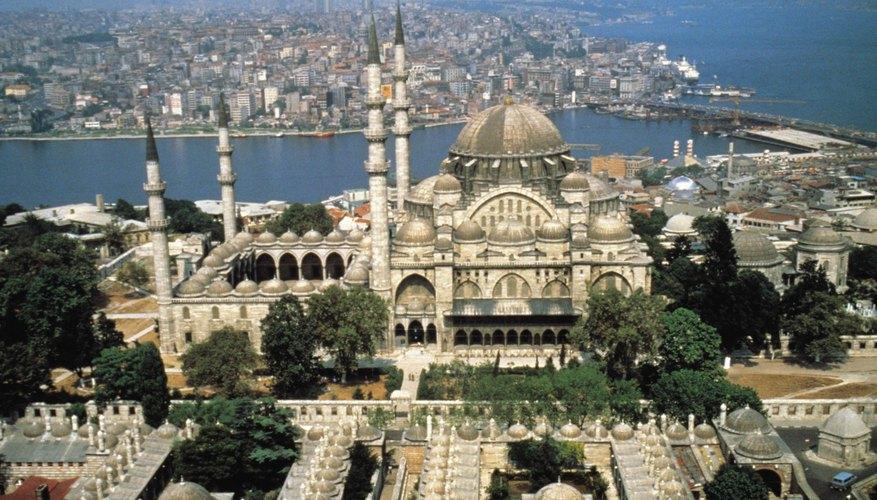 Aerial shot of Istanbul, Turkey.
