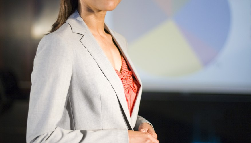 When giving an oral presentation your posture should be relaxed, not rigid.
