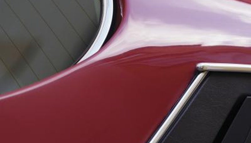 A paint job won't look flawless and shiny with body filler print through.