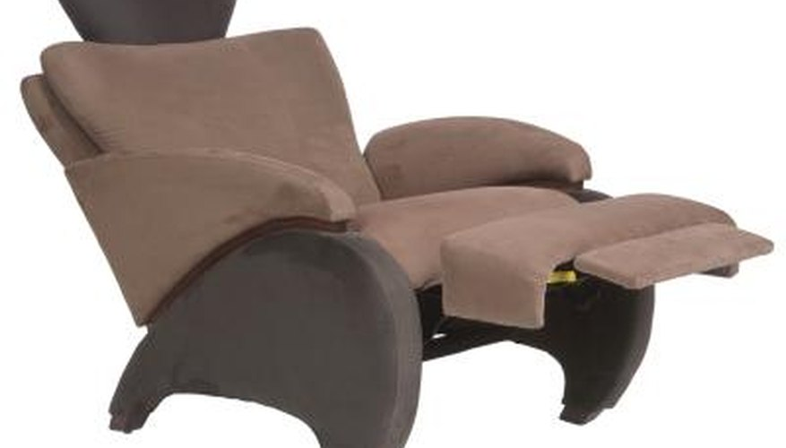 Taking apart a recliner makes it easier to move.