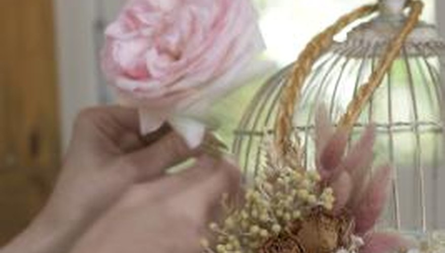 Sealing dried flowers will keep them from easily crumbling apart.