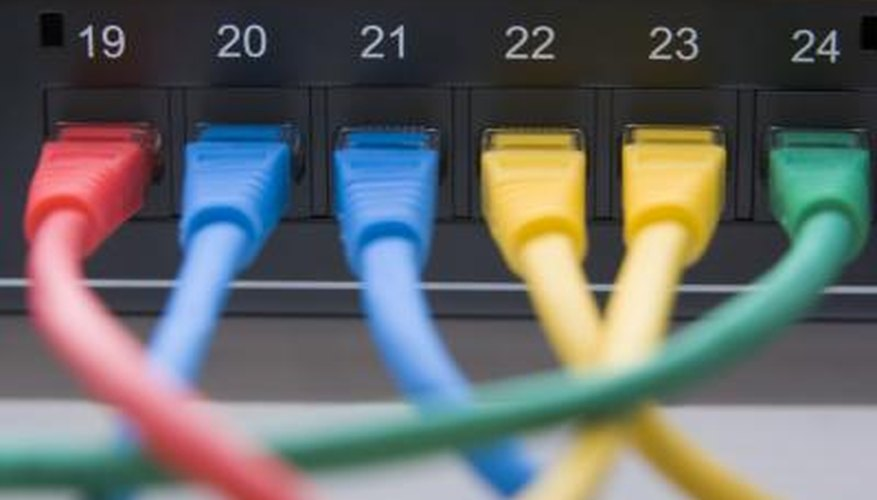 Devices on a network use hubs and switches as links to communicate with each other.