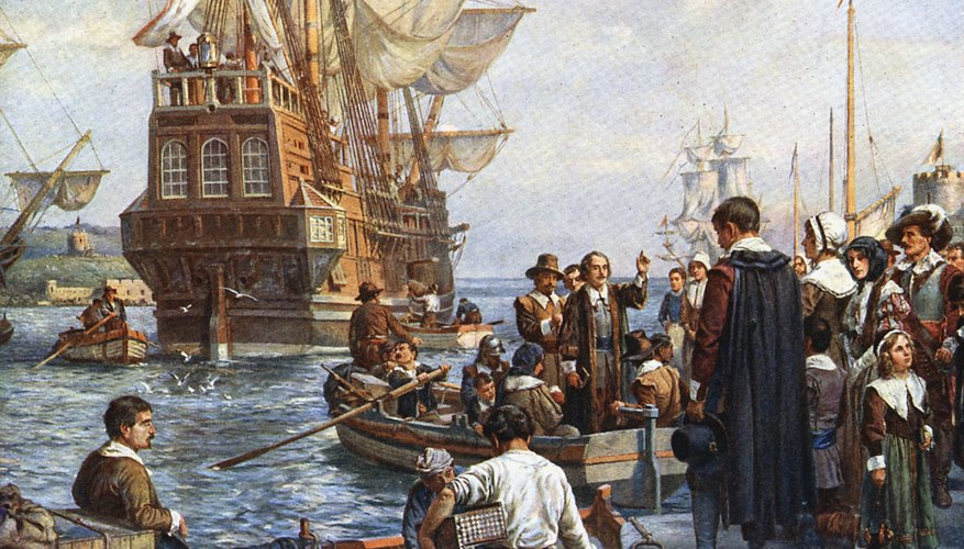 The Pilgrims left Holland in 1620 for Virginia but landed at Plymouth, Massachusetts.