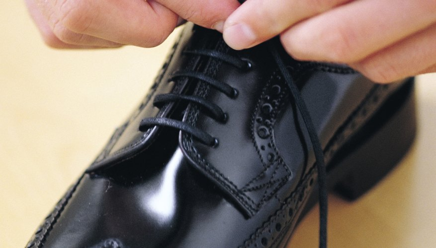 Step out in style with high shine shoes.