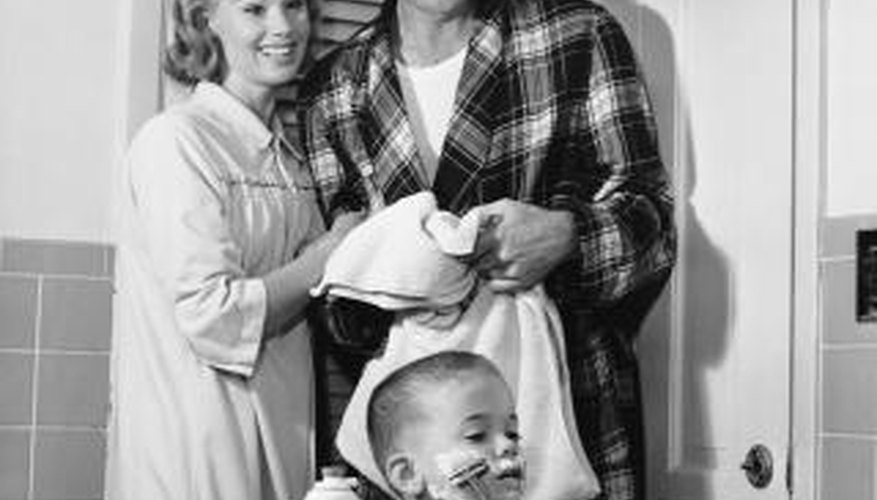 A good husband of the 1950s maintained a close relationship with his wife and children.