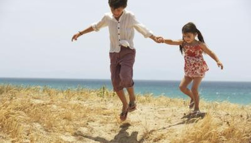A family day out at the beach is all about having fun in the sand.
