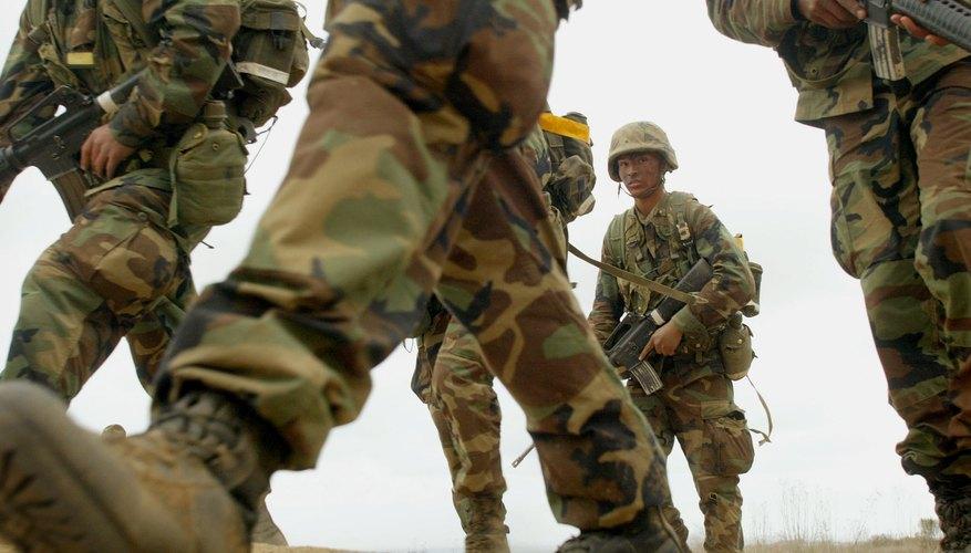 Recruits in combat training exercise