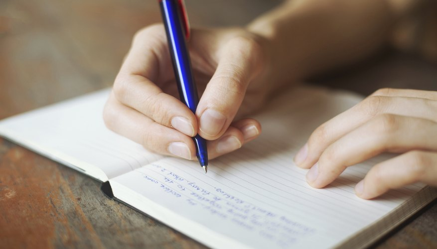Taking notes can improve memory.