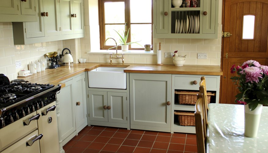 A Belfast sink is a beautiful addition to a kitchen.