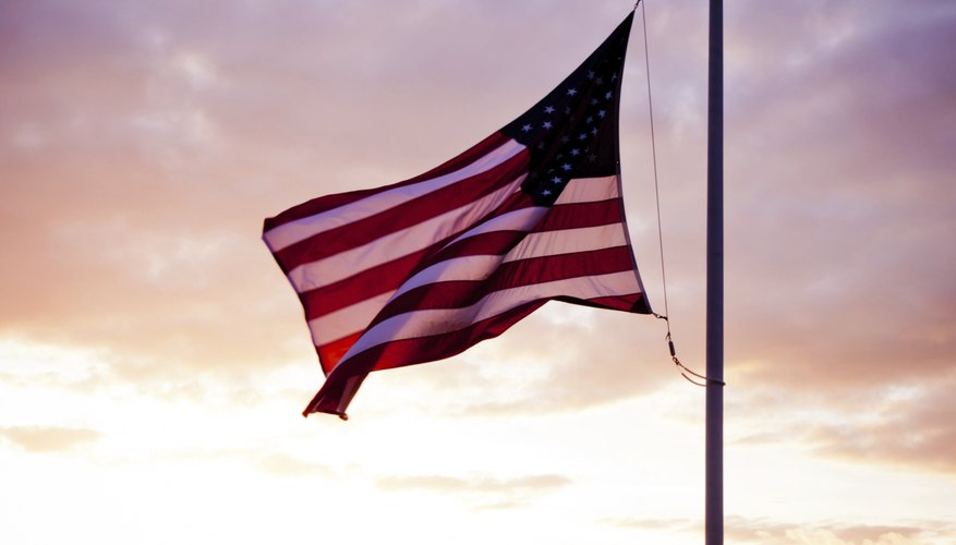 The President can dictate flags be flown at half mast.