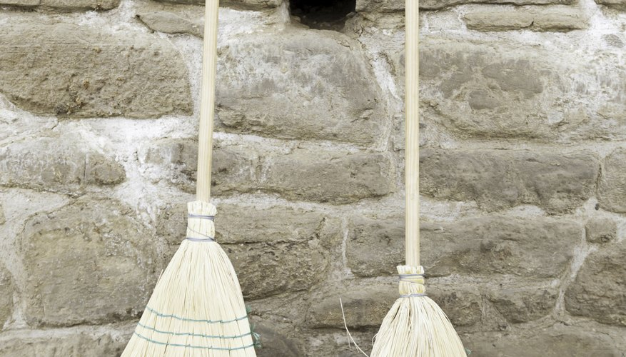 Complete your witches outfit with a broom and a crooked nose.