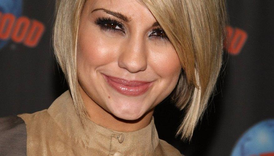 Inverted bobs like Chelsea Kane's flatter all face shapes.