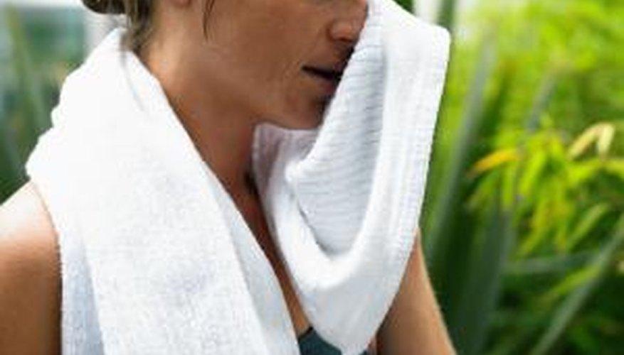 Excessive sweating causes heat rash.