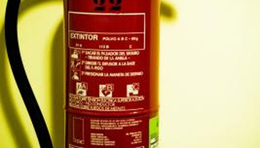 Fire extinguishers must be disassembled prior to recycling.