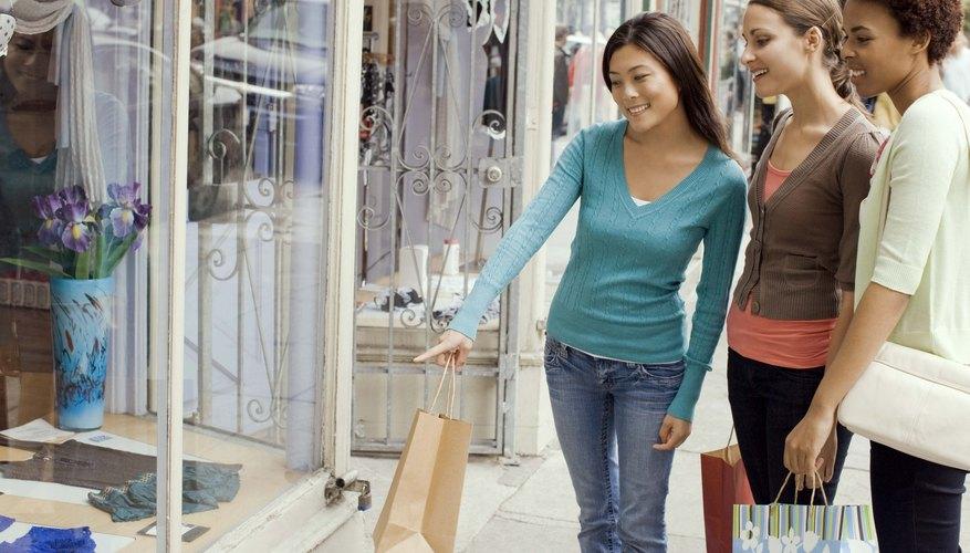 Salida de compras con amigos