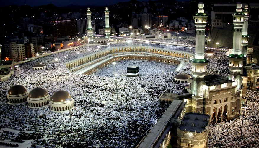 The Kaaba in Mecca, Saudi Arabia is the holiest place in Islam, where able Muslims are expected to embark on the Hajj pilgrimage once in their lifetime.