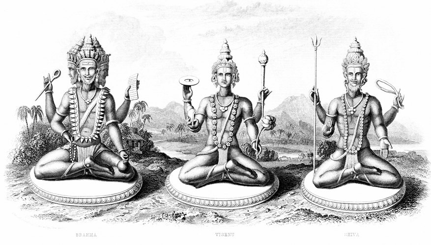 Brahma, Shiva and Vishnu, the god of preservation, are the three principle gods of Hinduism.