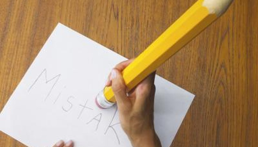 Pencil erasers remove mistakes.