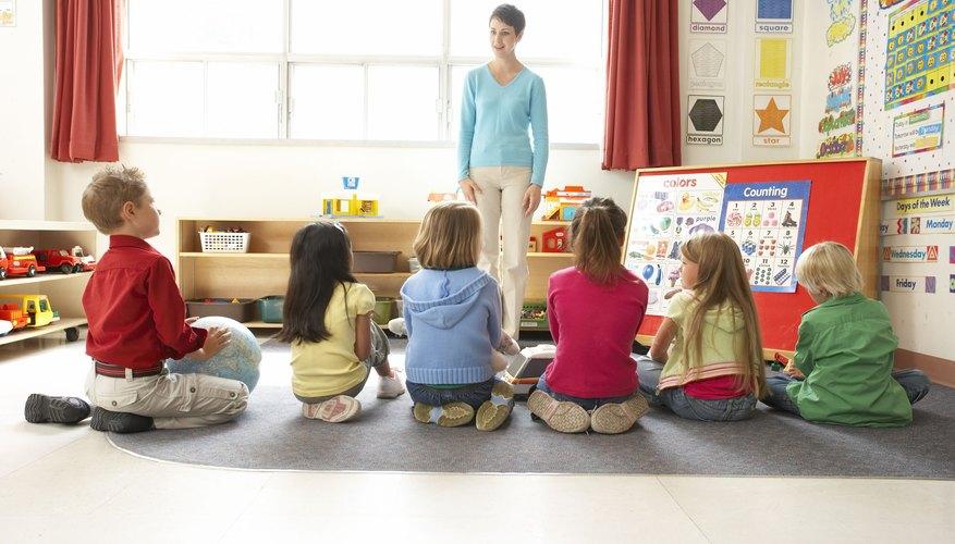 An elementary classroom needs visual aids.