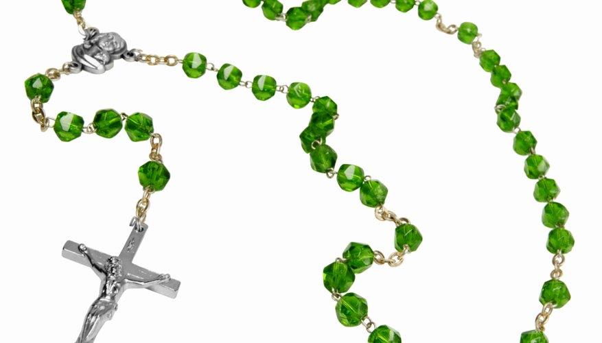 Each bead on a rosary symbolizes a prayer.