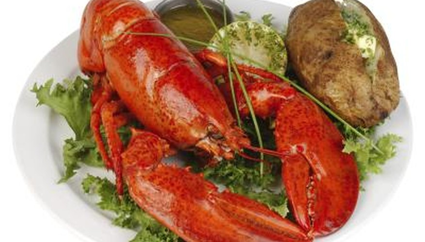 Lobsters don't turn bright red until they're cooked.