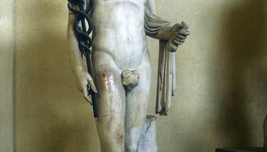 Hermes disguised himself as a human when he and Zeus visited Philemon and Baucis