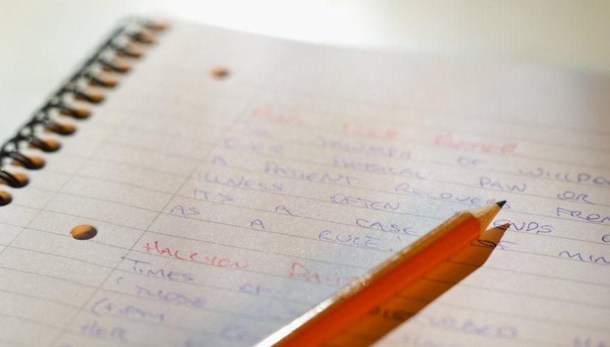 Making a list or notes about your interests may help you narrow down a topic you want to explore.