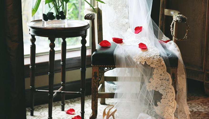 An antique wedding veil can have new life.