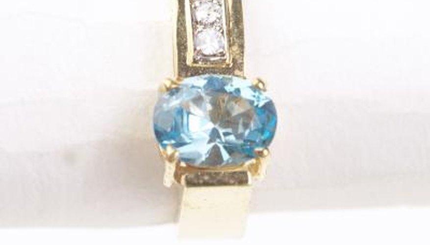 Aquamarine gems are blue and quite popular.