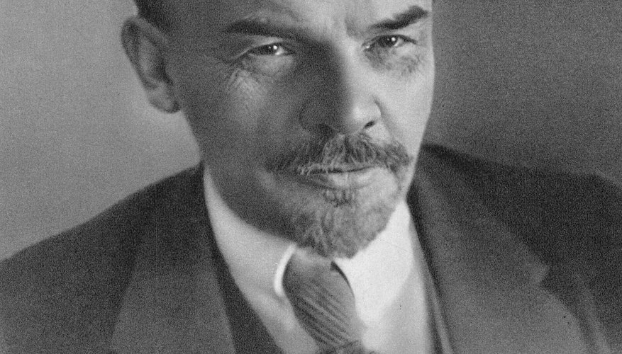 Vladimir Lenin first led the socialist Council of People's Commissars in Russia in 1917.