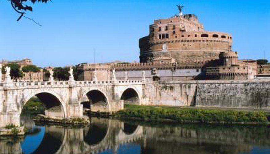 The ancient Romans built the first stone arch bridges, some of which are still standing.