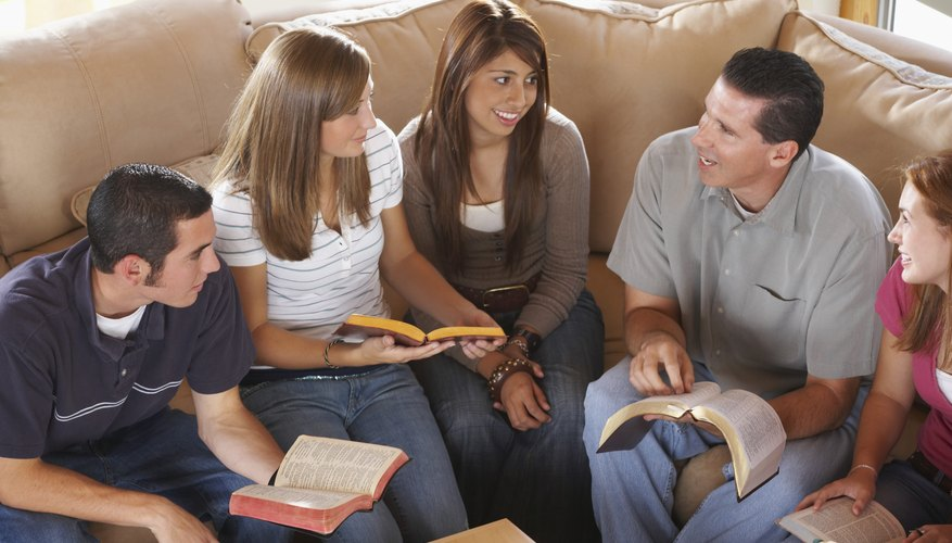 Small group Bible study encourages youth to interact with adults in the church.