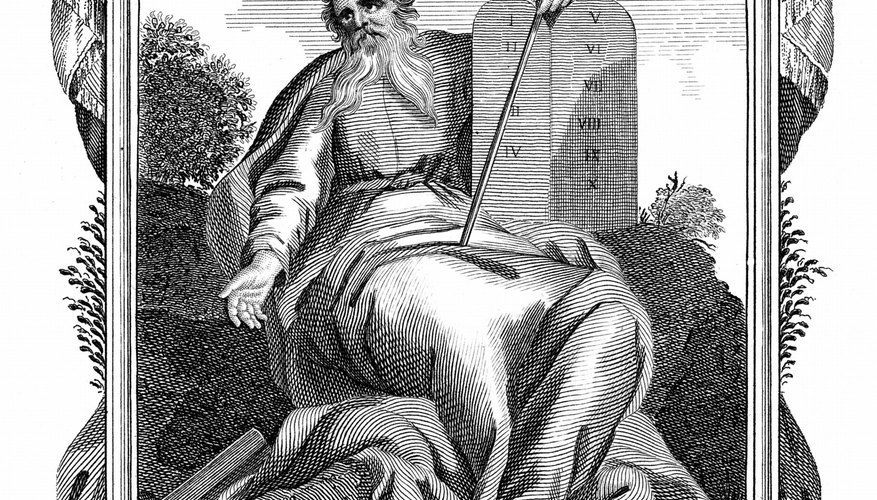 The Jews believe that God delivered the Ten Commandments to Moses.