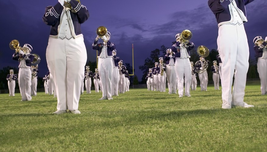 Bands are one way that students can work together as a group in school settings.