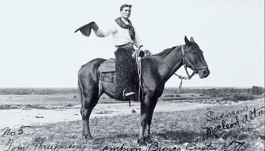 Although19th-century cowboys symbolized adventure, their livelihood was hard work.