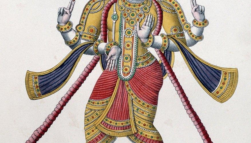 Hindus believe that gods like Vishnu protect them from evil.