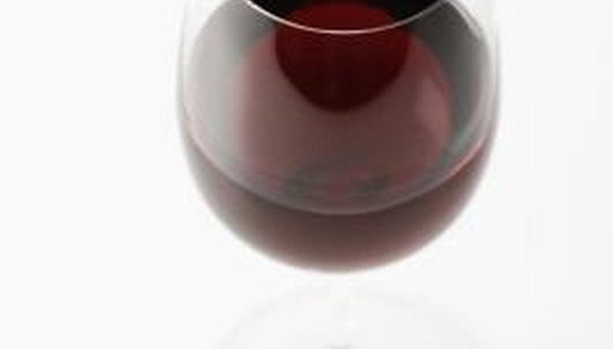 Red wine can stain suede and leather.